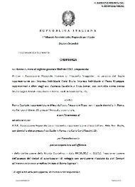 Ordinanza TAR 5 Dicembre 2012