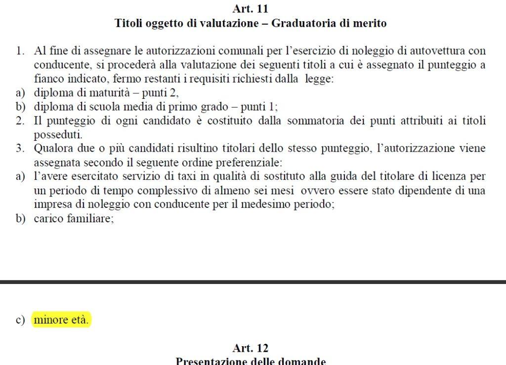 Regolamento NCC Comune di Santa Caterina Villarmosa